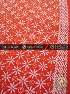 Kain Batik Cap Motif Kembang Jeruk Jingga
