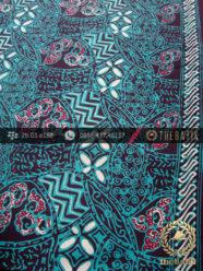Kain Batik Cap Tulis Motif Ceplok Kombinasi Tosca