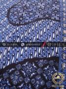 Kain Batik Cap Tulis Motif Pulau Klithik Kombinasi Biru