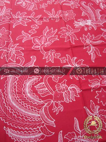 Kain Batik Tulis Jogja Motif Cendrawasih Merah