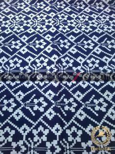 Kain Batik Klasik Motif Ikat Biru Dongker
