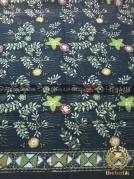 Kain Batik Pekalongan Motif Floral Coletan Hijau