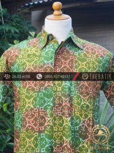 Kemeja Batik Modern Motif Hijau Gradasi