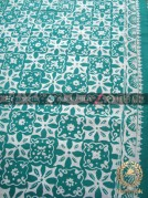 Batik Cap Motif Ceplok Matahari Hijau Kelengan