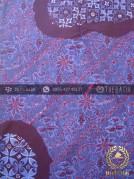 Kain Batik Cap Tulis Motif Pulau Kombinasi Biru