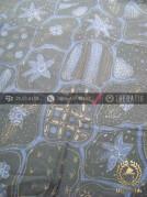 Kain Batik Warna Alam Tulis Motif Sekarjagad Hitam
