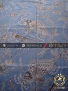 Batik Tulis Warna Alam Motif Ikan Biru Dongker