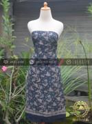 Bahan Baju Batik Sutera Motif Modern Biru Dongker