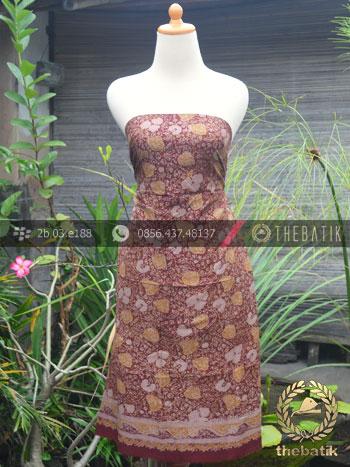 Bahan Baju Batik Sutera Motif Modern Coklat