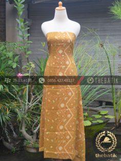 Bahan Kemeja Batik Sutera Motif Modern Kuning