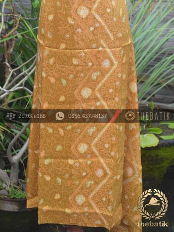 Bahan Kemeja Batik Sutera Motif Modern Kuning | THEBATIK.co.id
