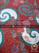 Kain Batik Pekalongan Cap Tulis Motif Kombinasi Maroon