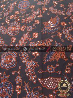 Kain Batik Tulis Motif Klasik Burung Latar Hitam