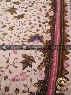 Kain Batik Tulis Motif Floral Lawasan Jambon