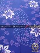 Kain Batik Tulis Motif Lereng Kembang Biru Ungu