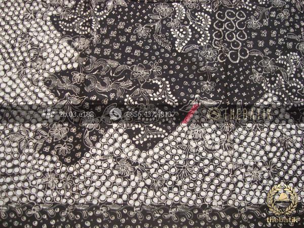 Batik Tulis Lasem Motif Sekarjagad Hitam