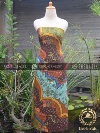 Bahan Baju Batik Sutera Motif Abstrak Modern-1