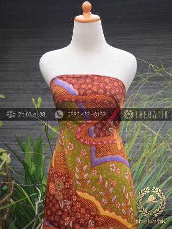 Jual Bahan Baju Batik Sutera Motif Abstrak Modern-2 ...