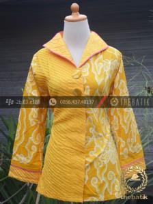 Model Baju Batik Wanita Opnaisel Megamendung Kuning