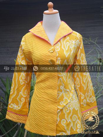 Jual Model Baju Batik Wanita Opnaisel Megamendung Kuning  bc2f810ec5