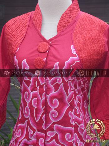 Jual Model Baju Batik Wanita Opnaisel Megamendung Merah Thebatik Co Id