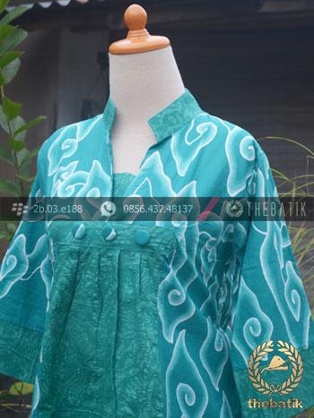Jual Model Baju Batik Wanita Megamendung Tosca Thebatik Co Id