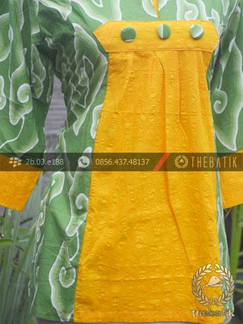 Jual Model Baju Batik Kerja Wanita Hijau Kuning Thebatik Co Id