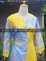 Model Baju Batik Modern Wanita Warna Kuning