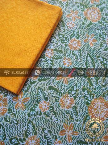 Paket Kain Batik Tulis Hijau – Bahan Dobi Kuning