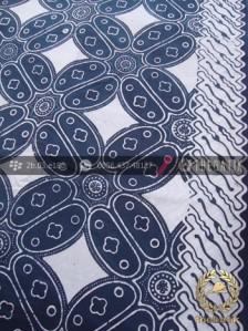 Kain Batik Bahan Baju Motif Kawung Biru Dongker