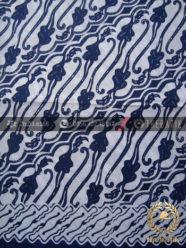 Kain Batik Bahan Baju Motif Parang Biru Dongker
