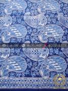 Kain Bahan Baju Batik Motif Keongan Biru