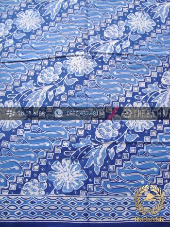Kain Bahan Baju Batik Motif Parang Biru