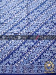 Kain Bahan Baju Batik Pekalongan Motif Zigzag Biru