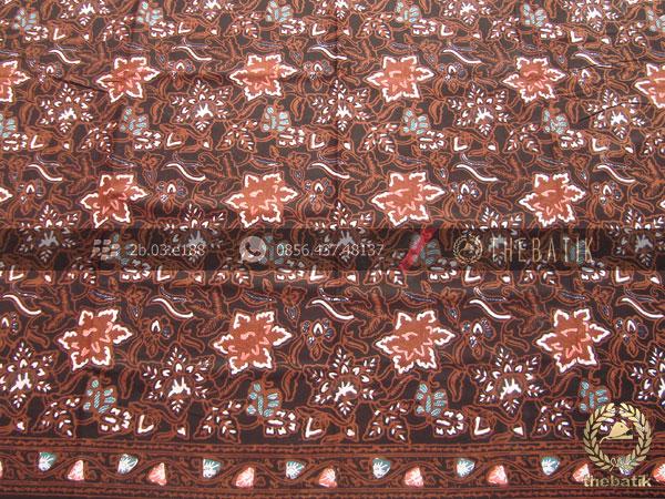Kain Batik Coletan Pekalongan Motif Floral