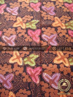 Kain Batik Dobi Motif Bunga Coletan