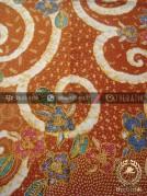 Kain Batik Bahan Baju Motif Floral Jingga