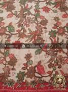Kain Batik Solo Motif Burung Merah Hijau