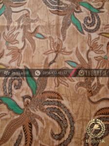 Jual Kain Batik Solo Motif Figuratif Floral Coklat  2616d6d303