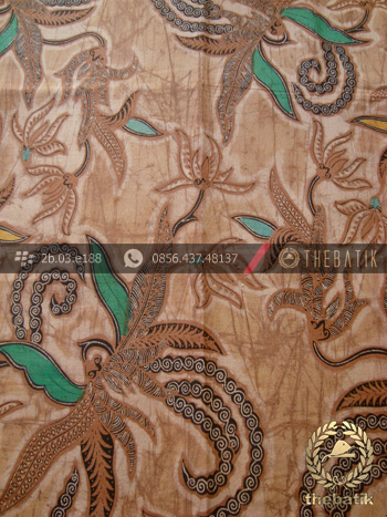 Kain Batik Solo Motif Figuratif Floral Coklat Thebatik Co Id