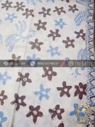 Batik Tulis Warna Alam Motif Bunga Ayam Putih