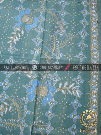 Batik Tulis Warna Alam Motif Floral Buketan Hijau