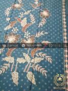 Batik Tulis Warna Alam Motif Buketan Kembang Tosca
