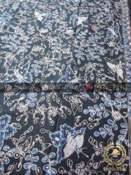 Batik Tulis Warna Alam Motif Floral Kupu Hitam