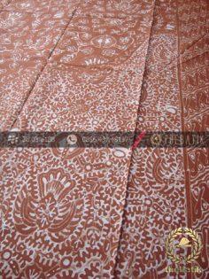Batik Tulis Warna Alam Motif Semen Coklat Tumpal