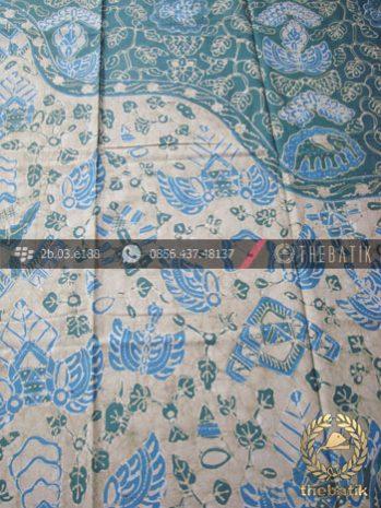 Batik Tulis Warna Alam Motif Semen Kombinasi Indigo