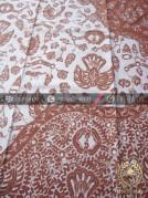 Batik Tulis Warna Alam Motif Semen Tumpal Coklat