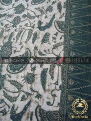 Batik Tulis Warna Alam Motif Sri Kuncoro Hijau Tumpal