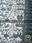 Batik Tulis Warna Alam Motif Wahyu Tumurun Hijau Tumpal