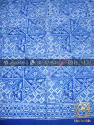Kain Bahan Baju Batik Motif Tambal Biru